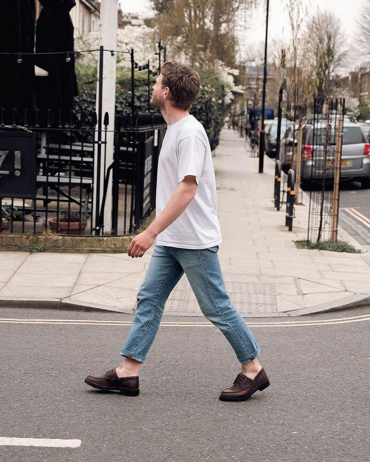 Man wearing WALK London Loafer