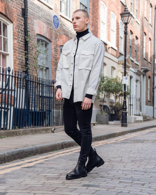 Man wearing WALK London chelsea boot
