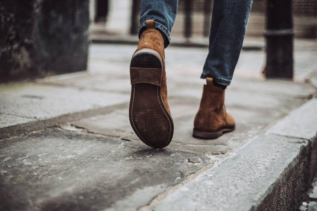 Man wearing WALK London desert boot