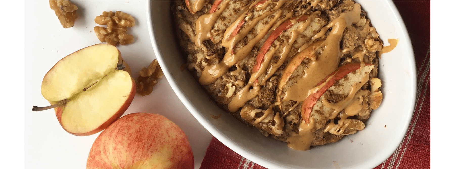 Apple, Cinnamon & Walnut Baked Protein Oats Recipe