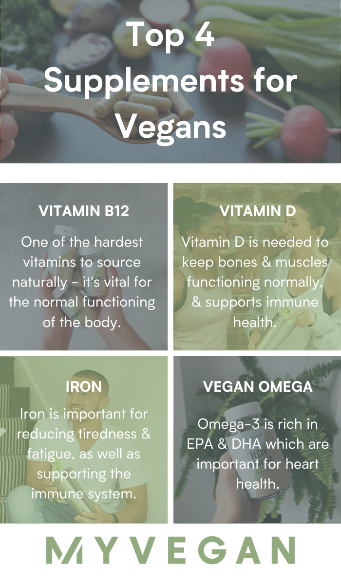 best supplements for vegans infographic