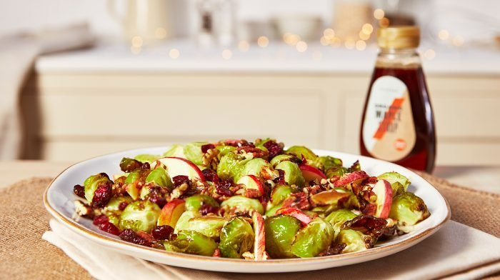 Maple Roasted Brussels Sprout Salad Recipe