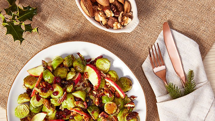 Maple Roasted Brussels Sprout Salad