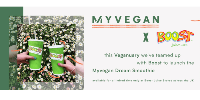 Myvegan x Boost Juice
