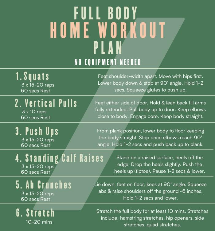 Myvegan Full Body Home Workout Plan
