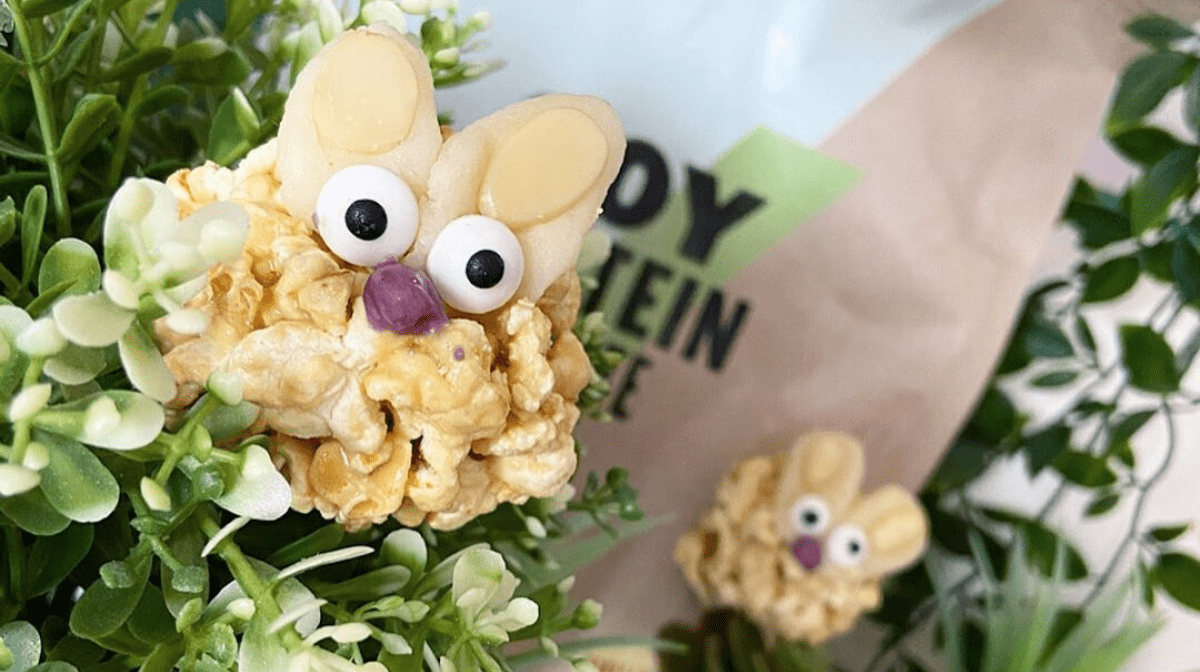 Vegan Protein Popcorn Bunnies