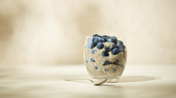 Blueberry and Maple Chia Seed Pudding