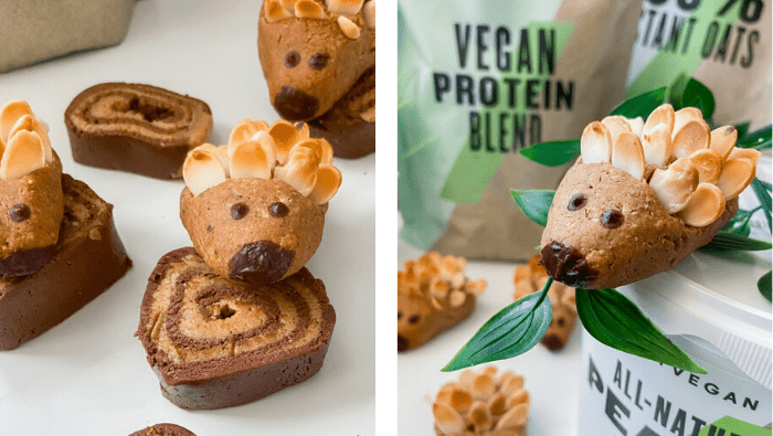 Chocolate Almond Protein Hedgehogs