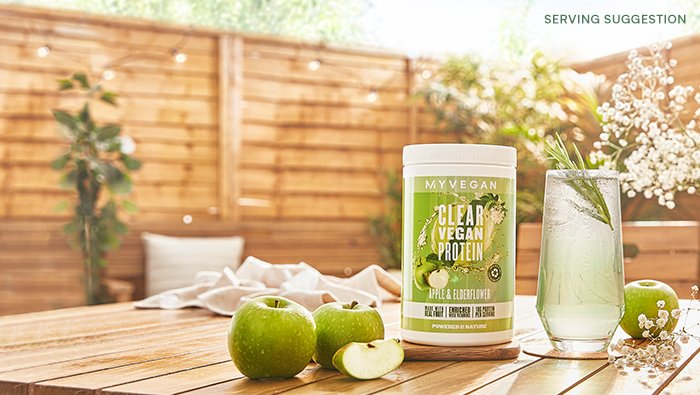 Apple & Elderflower Clear Vegan Protein