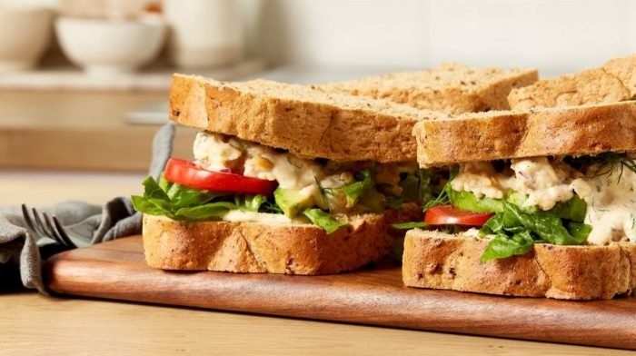 Easy Chickpea Salad Sandwich | Vegan Lunch Ideas
