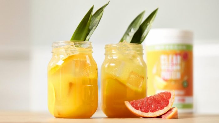 Pineapple Screwdriver Clear Vegan Protein Mocktail