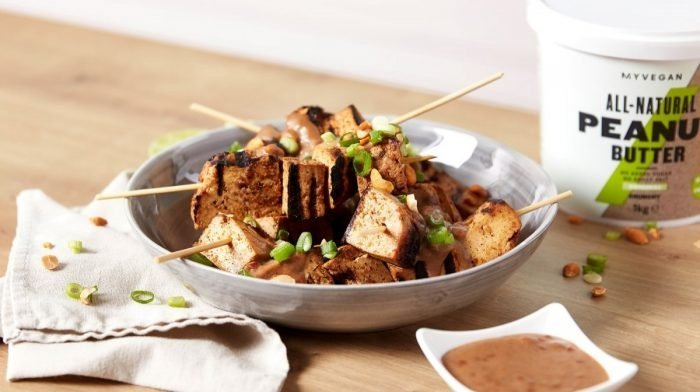 Tofu Satay Skewers with Peanut Sauce