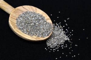 Chia Seeds on a spoon