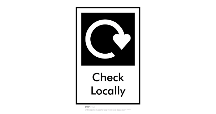 Check locally recycling logo