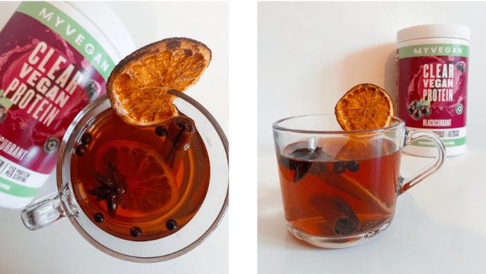 vegan mulled protein drink