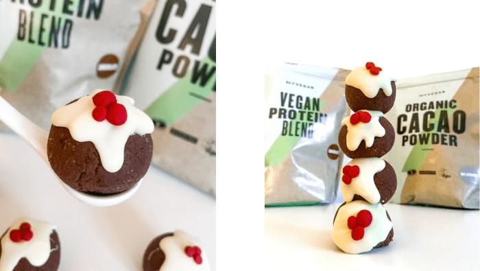Christmas Pudding Protein Balls