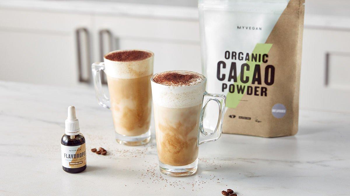 Vegan Hot Mocha Milky Coffee