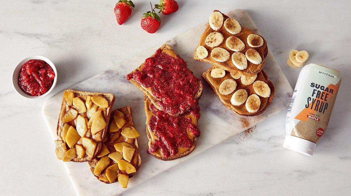 Peanut Butter Toast 3 Ways | Healthy Vegan Breakfast Ideas
