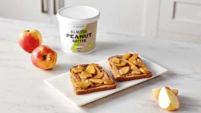 Caramelised Apple & Peanut Butter on Toast