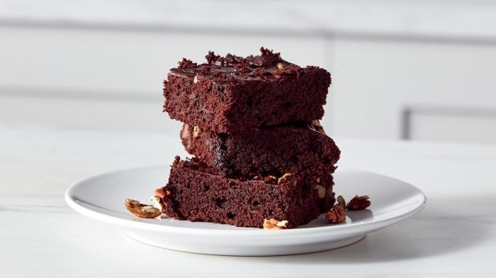 Vegan Chocolate & Walnut Protein Brownies