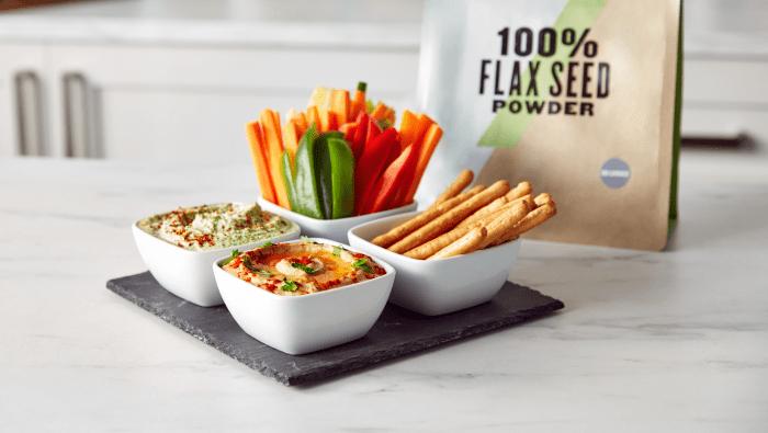 vegan hummus and vegan cream cheese