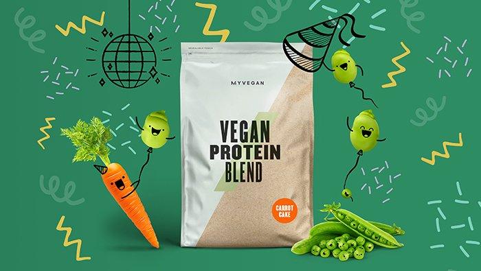 Vegan Carrot Cake Protein Blend