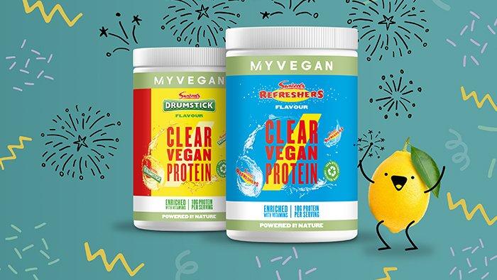 Clear Vegan Protein x Swizzles