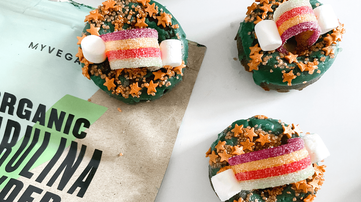 Vegan Rainbow Donuts | St Patrick's Day Recipe