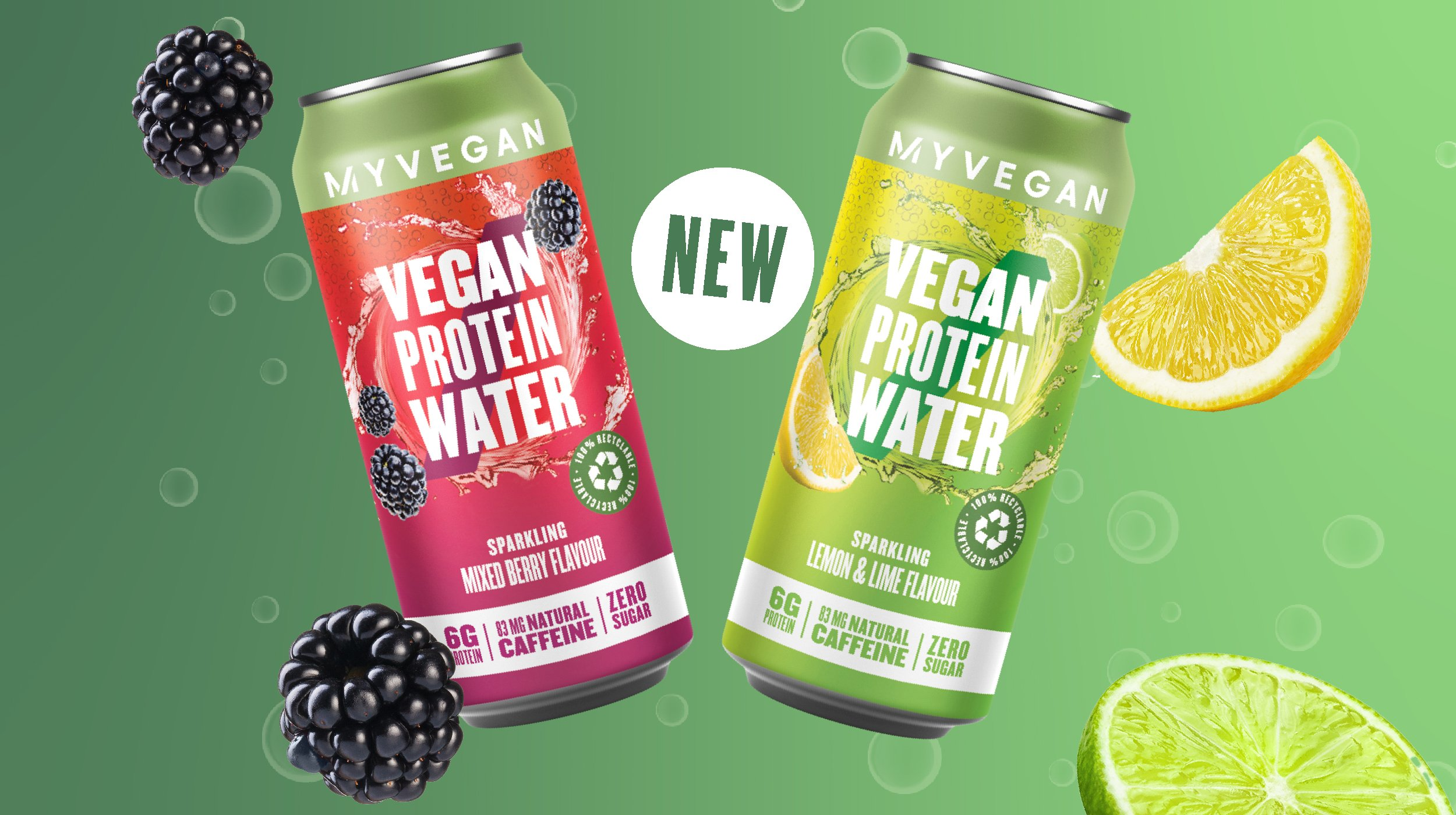 Introducing our Sparkling Protein Waters