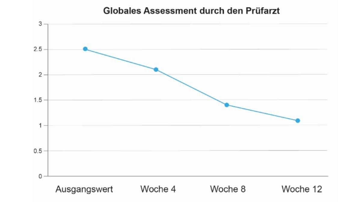 Globales assessment durch den Prufarzt