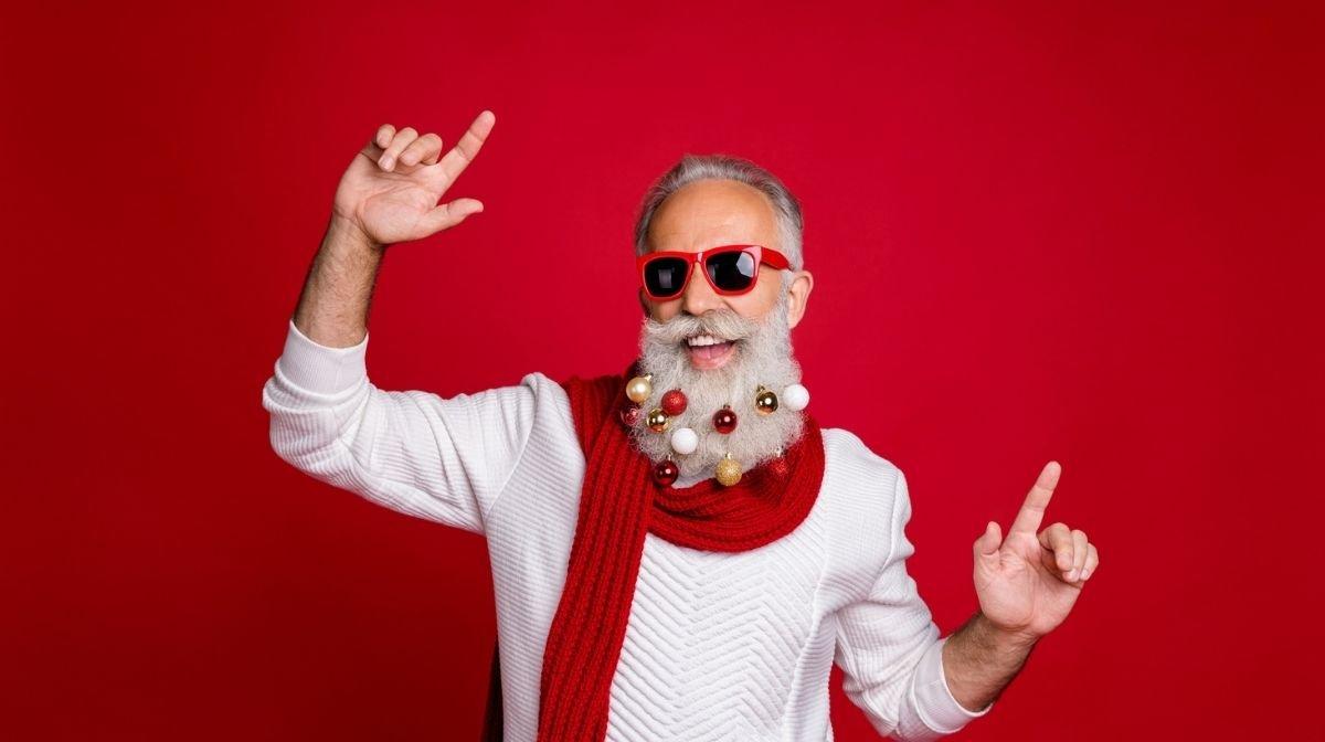 Hingucker auf der Weihnachtsfeier : Weihnachtsbart