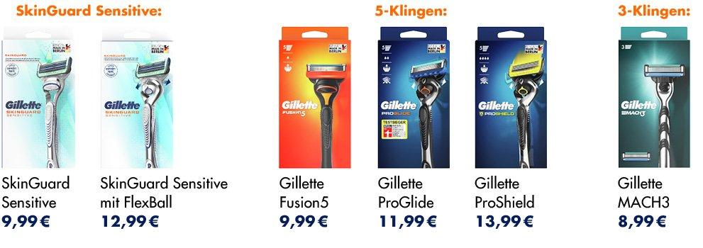 Gillette launcht verbesserte Rasierer & recyclebare Packungen