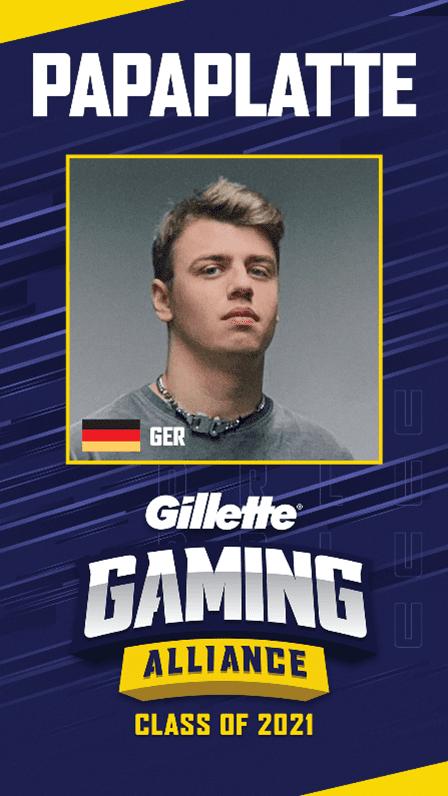 Gillette Gaming Alliance mit Papaplatte   Gillette DE