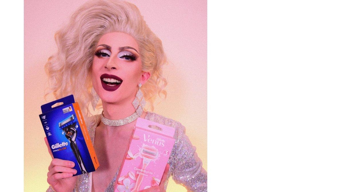 Drag Queen Aria Addams rasiert sich gerne mit Gillette Produkten   Gillette DE