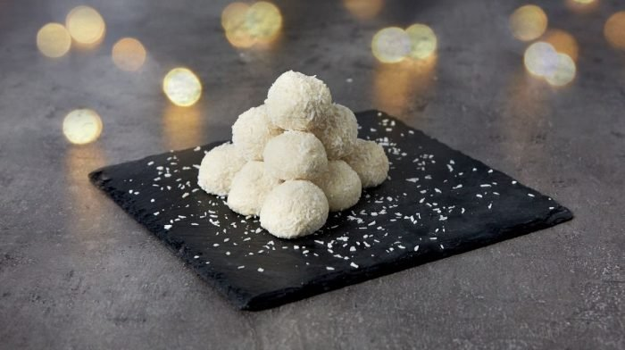 White Chocolate Protein Snowballs