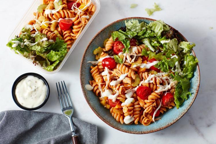 Buffalo Chicken Pasta Salad | 3-Day Chicken Meal Prep