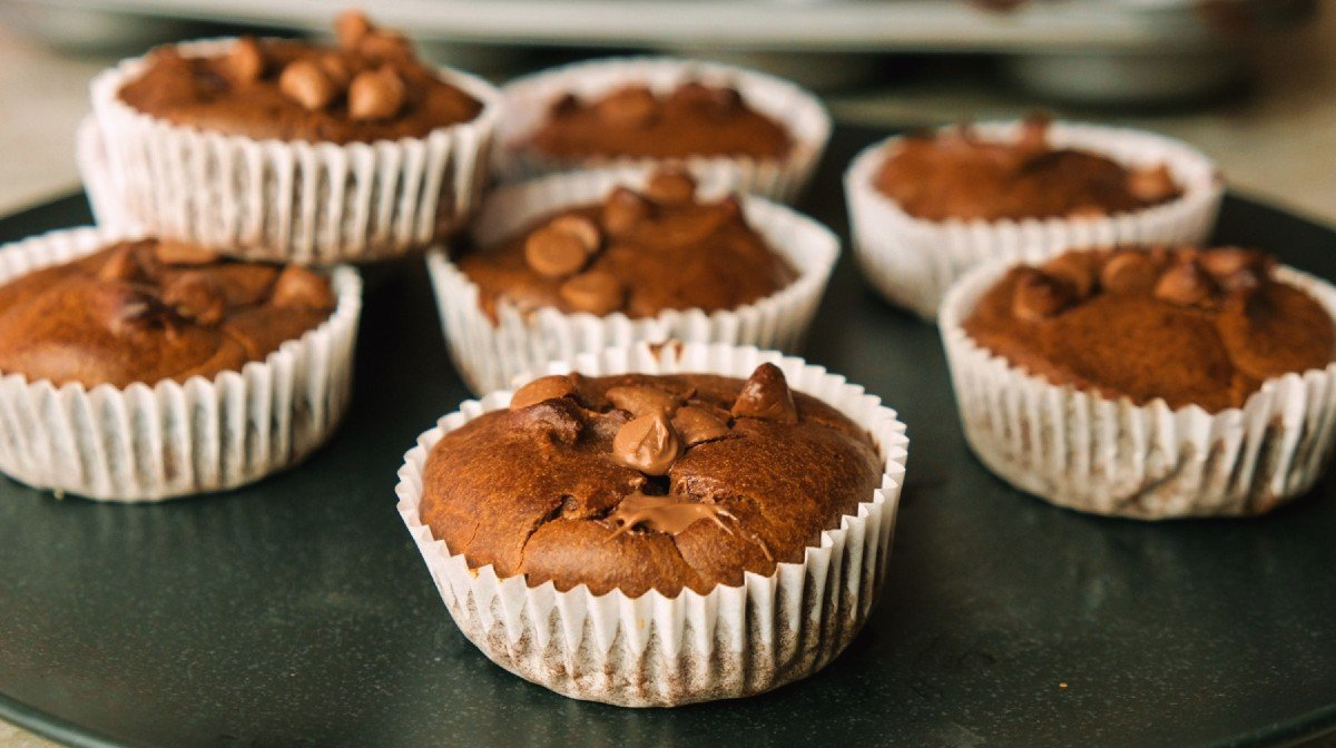 High-Protein Brownie Muffins