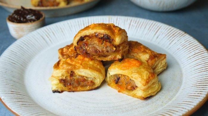 Cheese & Chutney Sausage Rolls