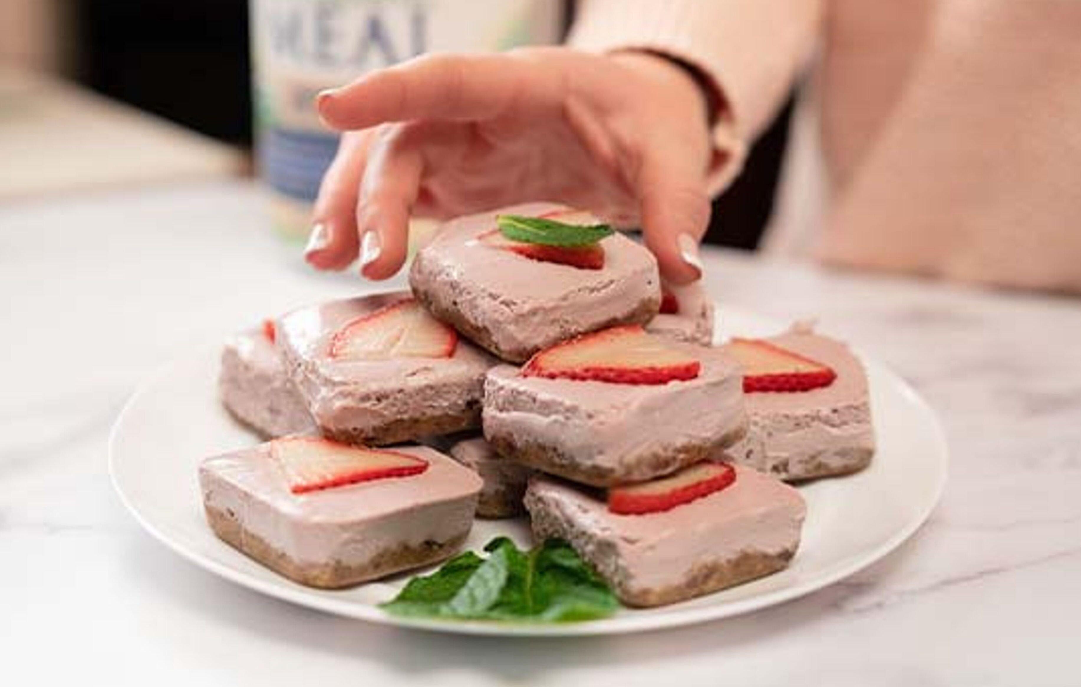 Organic Strawberry Dessert Bars