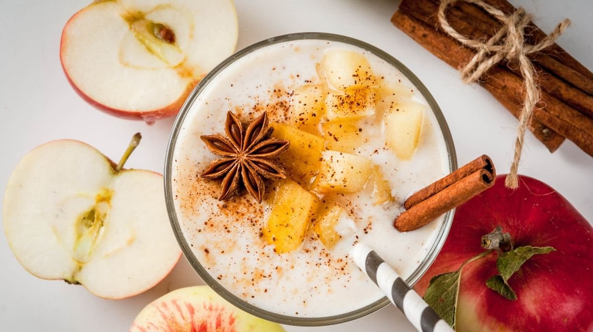 Our best warm apple spiced chai protein smoothie