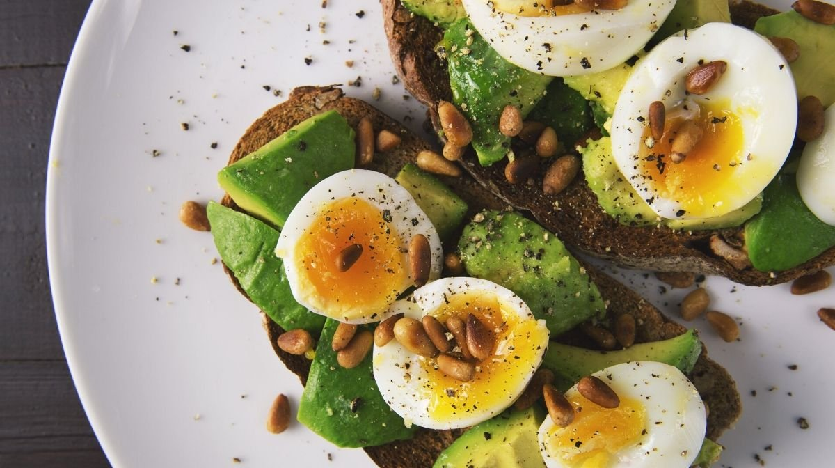 eggs, nuts and seeds, which are all good sources of protein