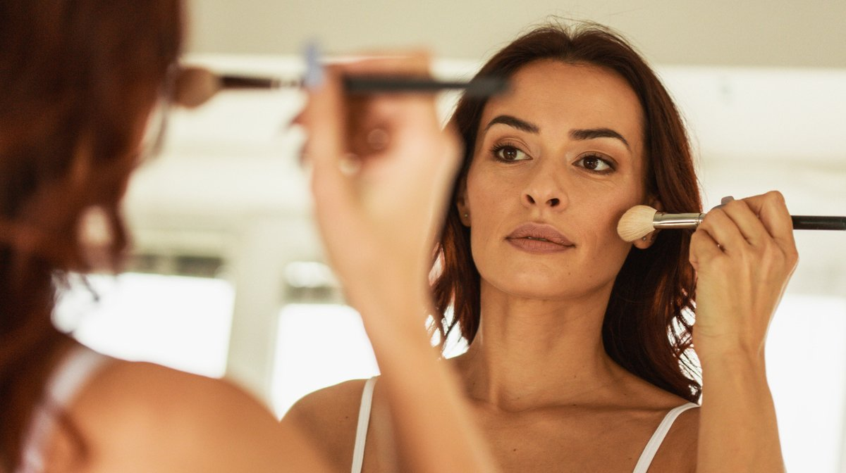 woman applying foundation - How to Apply Foundation