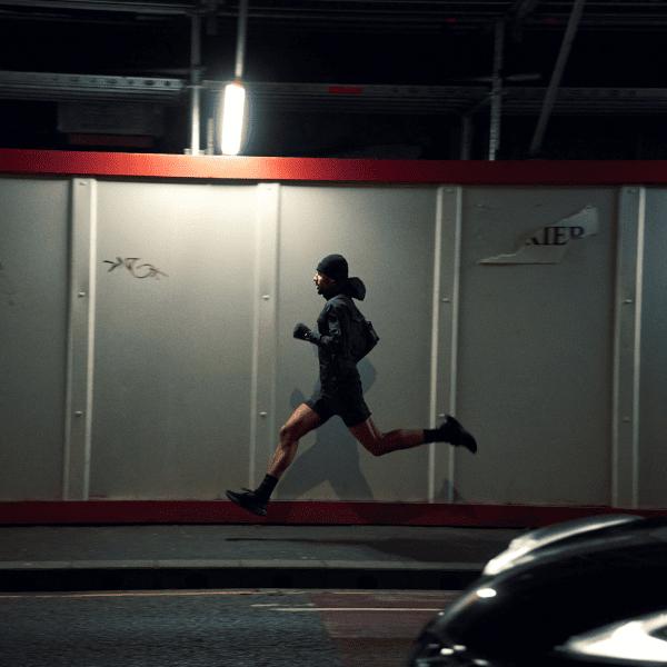 Man running in sportswear