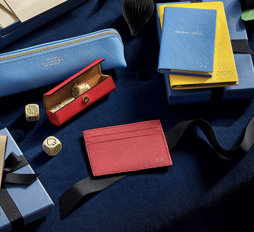selection of smythson accessories