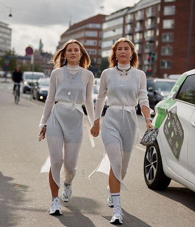 influencers wearing axel arigato at Copenhagen Fashion Week