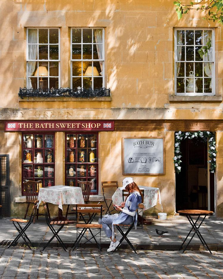 An old fashion sweet shop street view