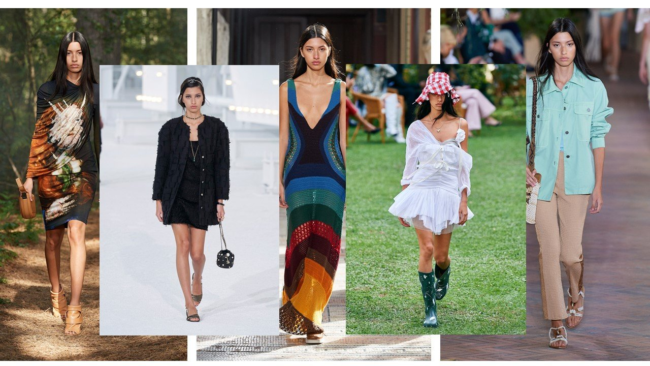 Photo credit : Vogue Runway - Burberry, Chanel, Gabriela Hearst, Philosophy di Lorenzo, Alberta Ferretti