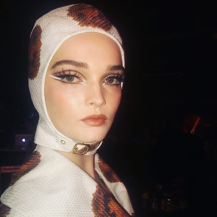 AW21 makeup from Moschino