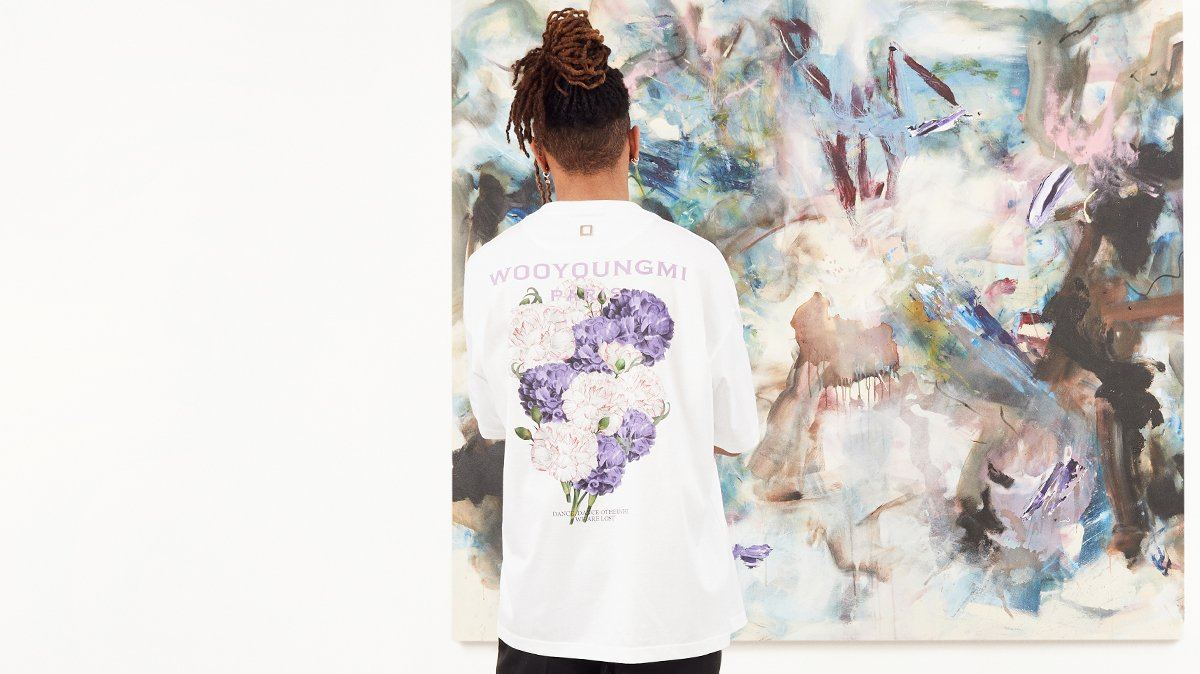 Man at art gallery