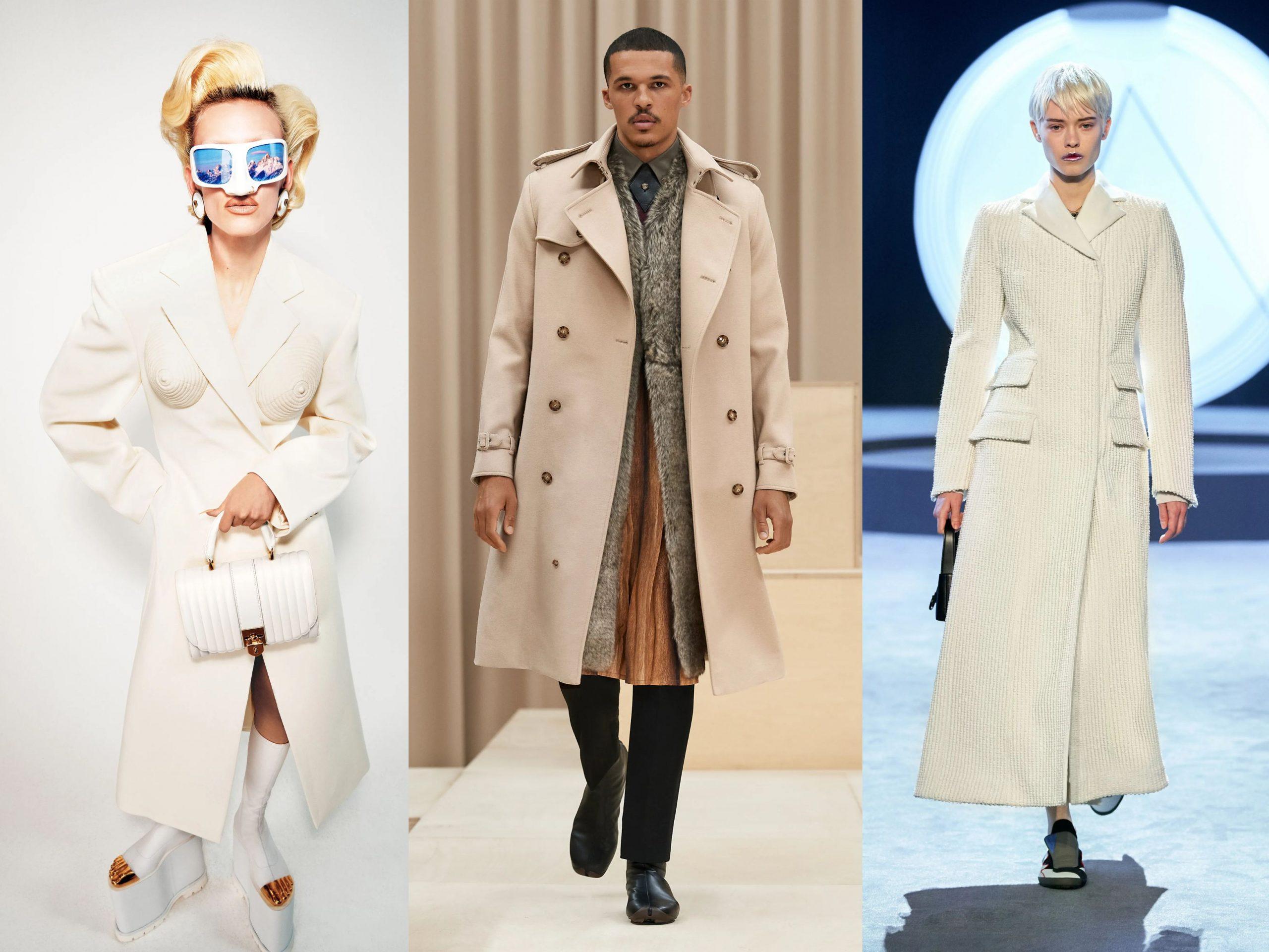 Models wearing AW21 Trends long coats